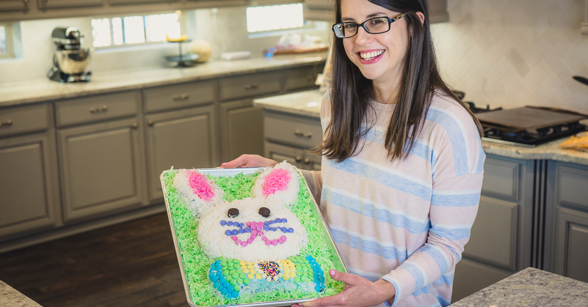 Cute and Fun Easter Bunny Cake
